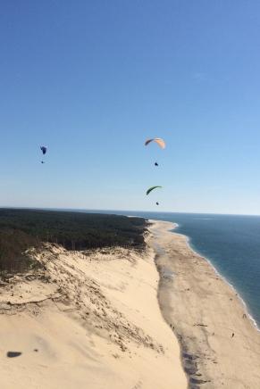 Vol en parapente au dessus de la Dune du Pyla